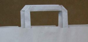 bolsas de papel con asa plana y rizada personalizadas