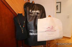bolsas para trajes de tela