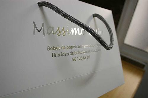 bolsas de lujo en papel impresas