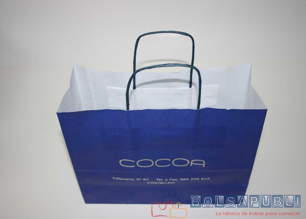 Bolsa de papel azul klein