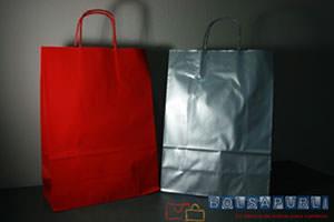 Bolsas de papel personalizadas para comercios de colores