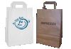Bolsas de papel kraft o blanco con asa plana