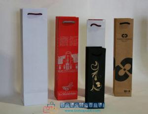 bolsas de papel impresas para botellas