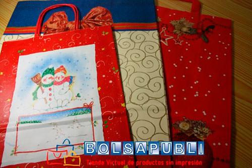 Bolsas de Papel Impresas Navidad