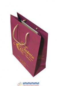 bolsas de papel de lujo color vino