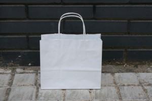 Mejor bolsa de papel blancas rizada