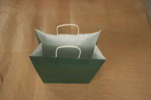 Mejor bolsa de papel verde rizada