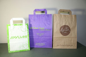 bolsas de papel asa plana