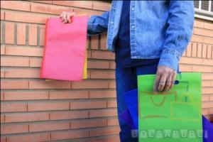 Bolsas de Tela Rosas, Amarillas y Verdes