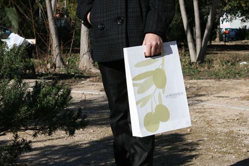 Bolsas Publicitarias rama olivo frontal