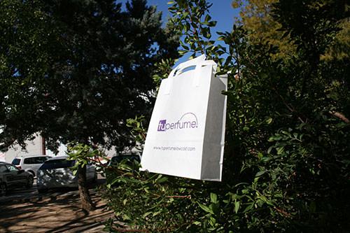 bolsas de papel personalizadas blancas con tu logo