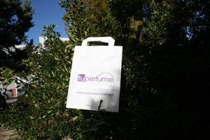 bolsas de papel personalizadas blancas