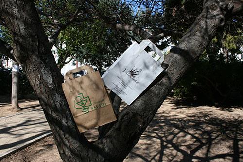bolsas de papel personalizadas asa plana exterior