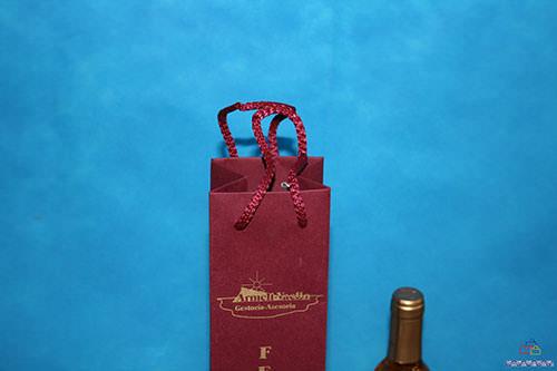bolsas de papel para botellas de lujo