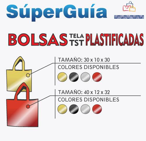 guia bolsas de tela plastificadas