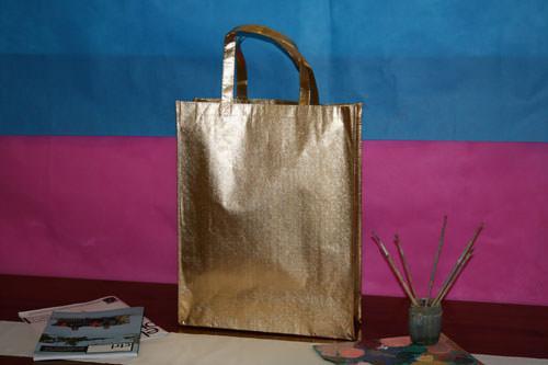 Bolsas de Tela con Logo oro brillo