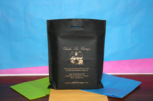 Bolsas de Tela con Logo negra y oro