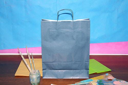 como hacer bolsas de papel de asa rizada