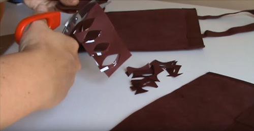 bolsas de tela manualidades hojas