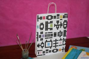 bolsas de papel impresas en sevilla de asa rizada
