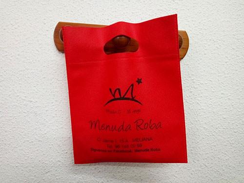 bolsas de tela personalizadas urgentes rojas