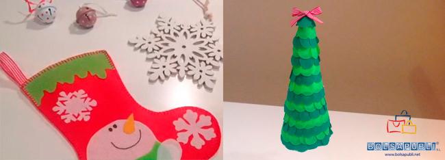 manualidades para navidad bolsapubli