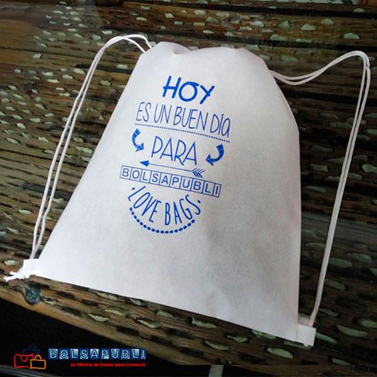 Mochila Saco Personalizada Azul