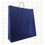 Bolsas de Papel Asa Rizada Azul Marino