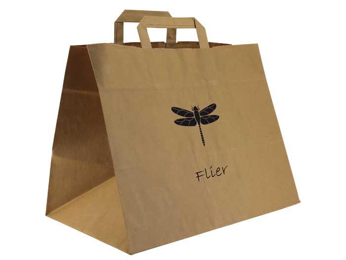 bolsa de papel + alimentación