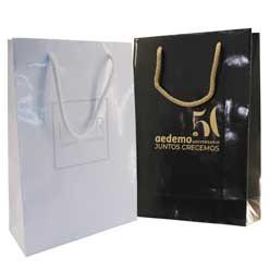 set bolsas plastificadas + lujo blanca negra