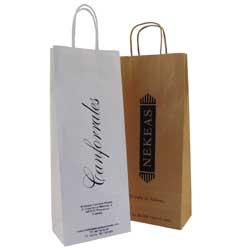 set bolsas de papel vino + asa rizada