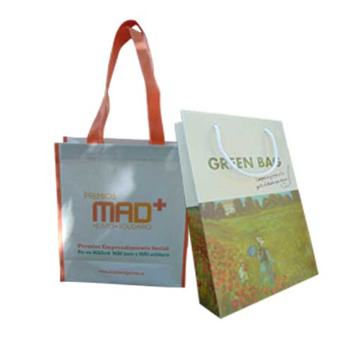 set bolsas ecologicas + greenbag y newpap