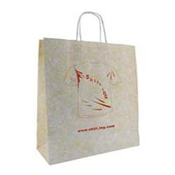 bolsa de papel asa rizada jaspeada 46x19x49cm