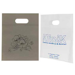 bolsas de tst asa troquel 25x30cm blanca gris